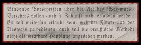 Weißwurst Resolution 1957