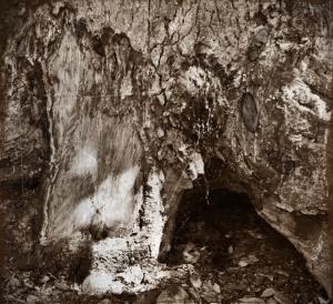 Wolperdinger Höhle (Foto von 1962) Nähe Kleiner Arber