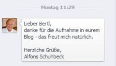 Schuhbecks Dank
