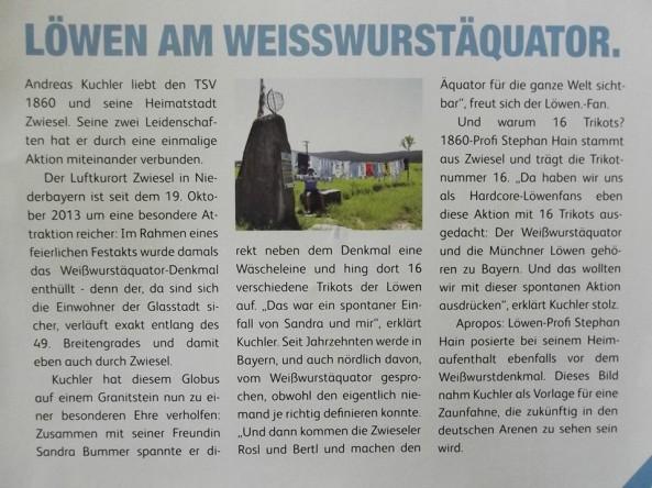 """Der Artikel in den """"Löwen News"""" vom 10.8.2014"""