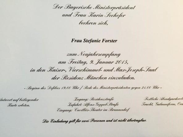 MP Seehofer Einladung