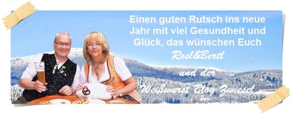 """Die Gründer des """"Weißwurst Blog Zwiesel"""" senden Neujahrswünsche"""