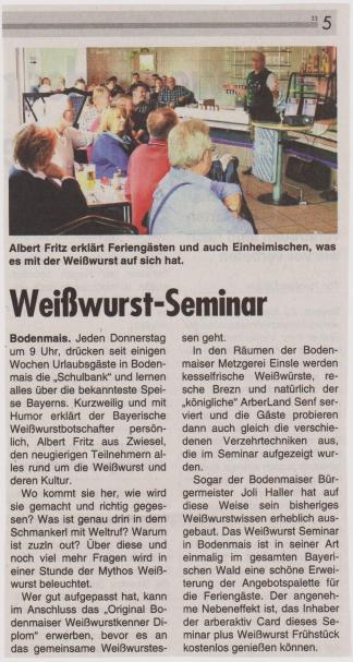 Seminar Wochenblatt